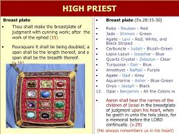 high priest breastplate 12 stones high priest