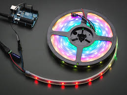 adafruit neopixel digital rgb led strip black 30 led black id