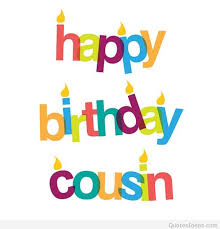 cousin happy birthday message card 2015