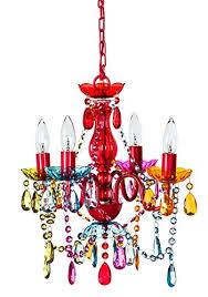 Best Crystal Chandelier Gypsy Color 4 Arm Multi Color Small Acrylic Crystal Chandelier New