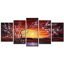 Plum Home Decor by Amazon Com Wieco Art Plum Tree Blossom Flowers Large Modern