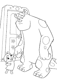 monsters coloring pages disney coloring pages