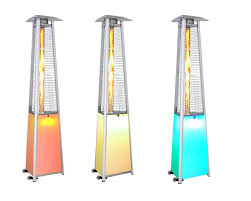 patio heater propane 12 color led light show contemporary triangle design portable