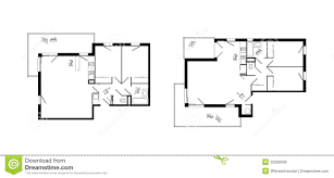 three rooms apartment plans set royalty free stock photos image