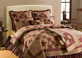Country Duvet Covers Quilts Country And Primitive Bedding Quilts Star Patch Bedding By