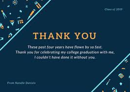 graduation thank you card cyan and orange tribal pattern graduation thank you card templates