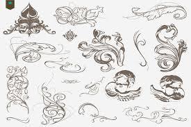 vector decorative swirls ornaments objects creative market