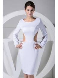 scoop long sleeves tea length backless prom dress wd1 017 1st