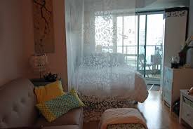 Dividing A Bedroom With Curtains Bedroom Glass And Curtains Wall Divider Surripui Net