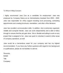 doc 563728 sample reference letter from previous employer
