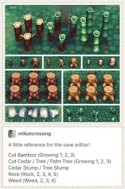 acnl shrubs animal crossing new leaf save editor hacking guide for placing rocks