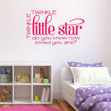 twinkle little star quote wall sticker by mirrorin twinkle little star quote wall sticker hot pink