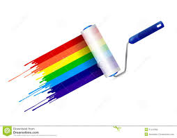 rainbow paint roller brush stock vector image 70845426 paint roller and ink rainbow illustration design royalty free stock photos