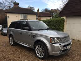 range rover silver land rover range rover sport super charged 4 2 v8 hst auto gs