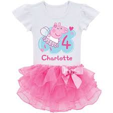 personalized peppa pig toddler birthday tutu t shirt