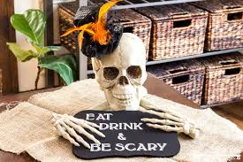 halloween bones background easy halloween party decoration skull centerpiece a home to