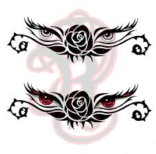 rose eyes tattoo design by ladywildrose on deviantart