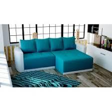 canapé convertible turquoise canapé d angle convertible en lit avec lit gigogne et coffre de