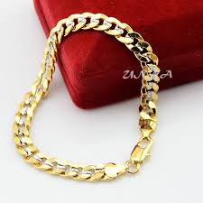 child bracelet gold images 7mm cool man woman boys white yellow gold color curb chain link jpg