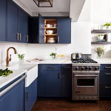 small kitchen cabinets 75 beautiful small kitchen with blue cabinets pictures
