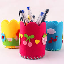 cheap creative diy craft kit handmade pen container pencil holder