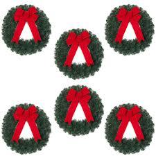 pre decorated christmas wreaths u0026 garland christmas