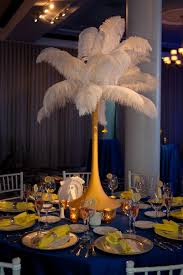 friday feature feather centerpieces beautiful blooms