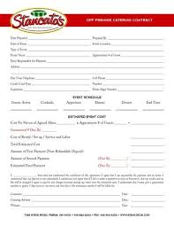 catering contract free download wedding catering contract
