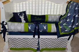 Navy Blue Chevron Crib Bedding by Crib Sets With Deer Creative Ideas Of Baby Cribs