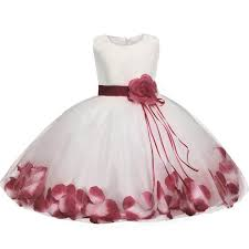 flower baby baptism dress for wedding toddler fancy clothes