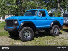 ford jeep modified rebuilt ford bronco ranger 4x4 blue image u0026 photo bigstock