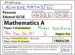 gcse maths edexcel november 2013 2h higher calculator complete