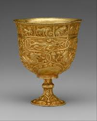 Buddhist Treasure Vase Cup Stand With The Eight Buddhist Treasures China Yuan Dynasty