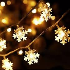 snowflake waterproof led flash lights string decoration festival