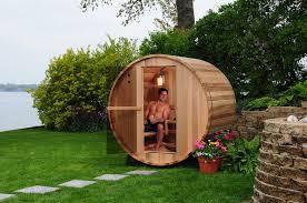 Backyard Sauna Plans by Barrel Sauna Almost Heaven Saunas