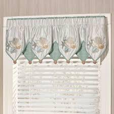 beach themed curtains and valances waverly window valances
