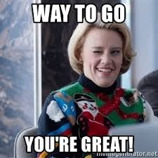 Christmas Party Meme - hr lady from office christmas party says way to meme generator