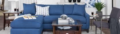 white livingroom furniture schneiderman u0027s furniture cool blue and crisp white living room