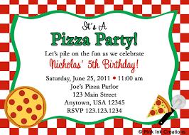 pizza party invitations 2017 thewhipper com