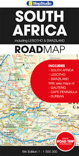 Lesotho Map South Africa Including Lesotho Swaziland Road Map Mapstudio