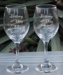 personalized glasses wedding just engaged personalized wine glasses set of two custom