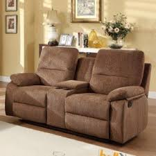 brown reclining loveseat foter