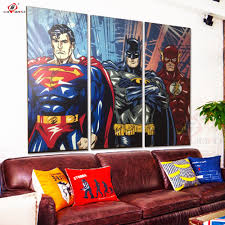 super hero oil painting decorative pictures wall art posters and