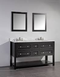 legion 60 inch double sinks bathroom vanity set espresso finish