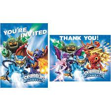 amazon com skylanders invite thank you note cards 8 each