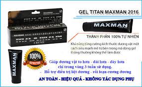 gel bôi làm to dương vật bán chạy nhất titan maxman new 2017
