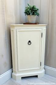 diy corner cabinet inspired by catalog retailer