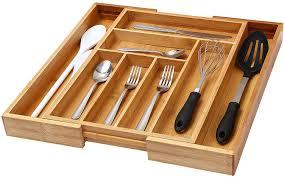 bamboo flatware amazon com ybm home u0026 kitchen expandable 4 compartment kitchen