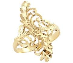 gold ring design 14k yellow gold unique leaf design ring new