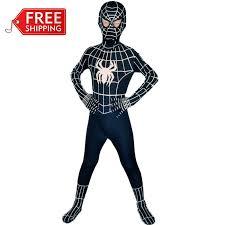 Superhero Halloween Costumes Men Black Spiderman Costume Kids Halloween Costumes Kids Children